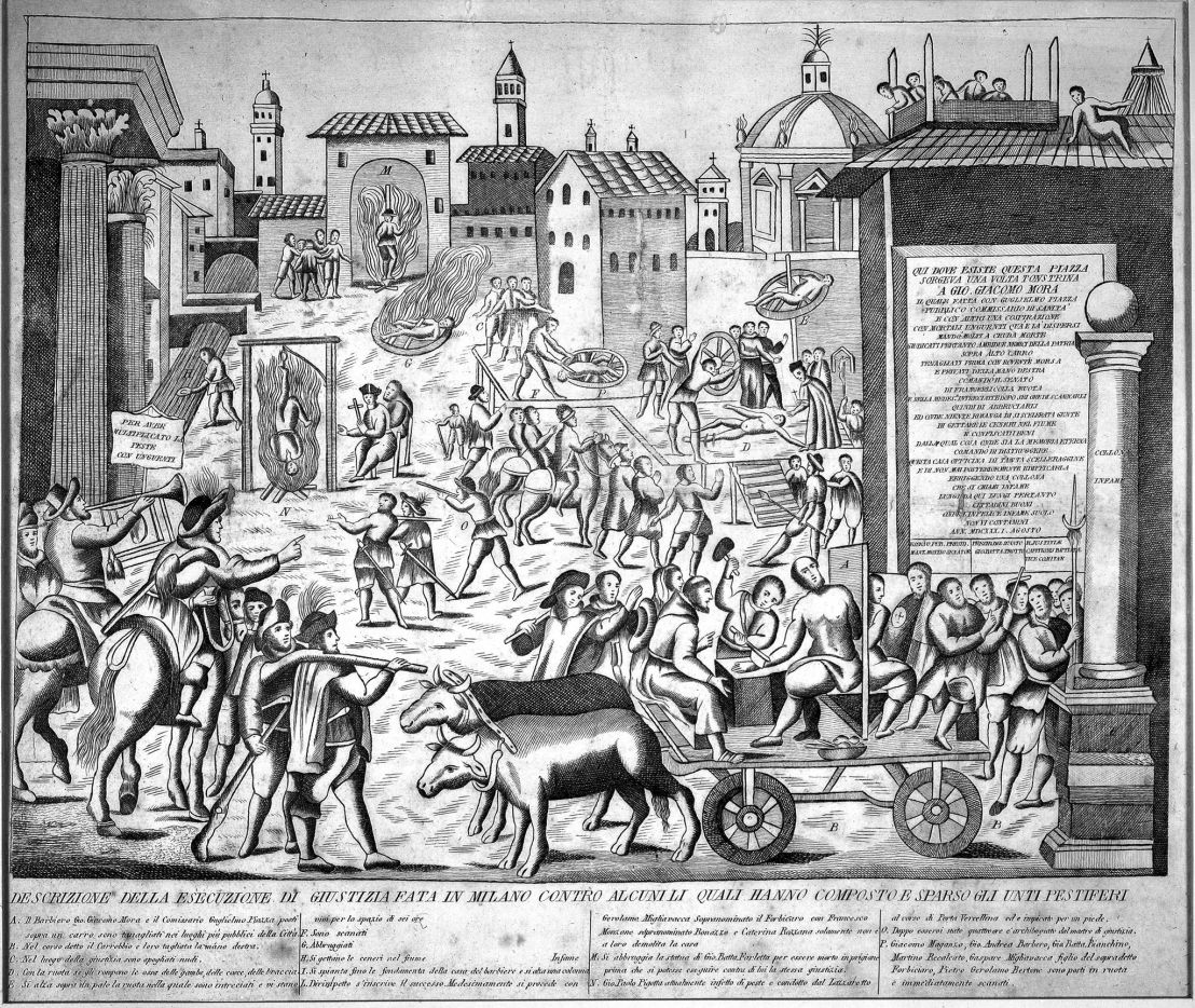Torture during plague epidemic, Milan 1630, Wellcome collections
